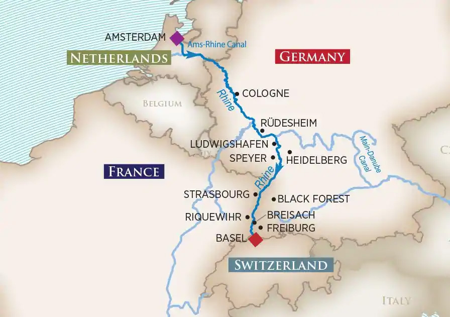 Map of Captiviating Rhine