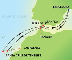 Map Sea Route England To To Canary Islands