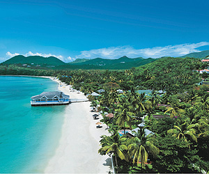Stay at the Sandals Halcyon Beach Saint Lucia, St. Lucia with Sunway