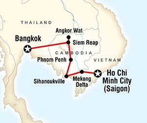 Cambodia on a Shoestring adventure tours and late deals to Asia
