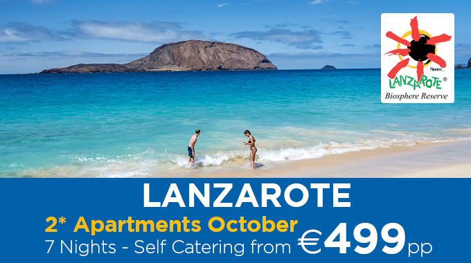 Lanzarote | 7 Nights from €499pp