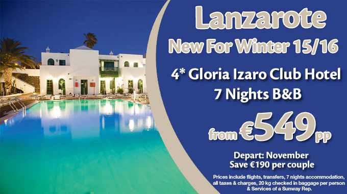 Lanzarote | 7 nights B&B from €549pp