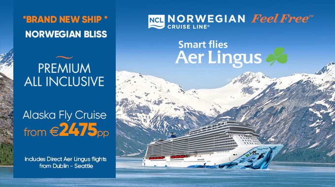 NCL Bliss | Fly/Cruise from €2475pp