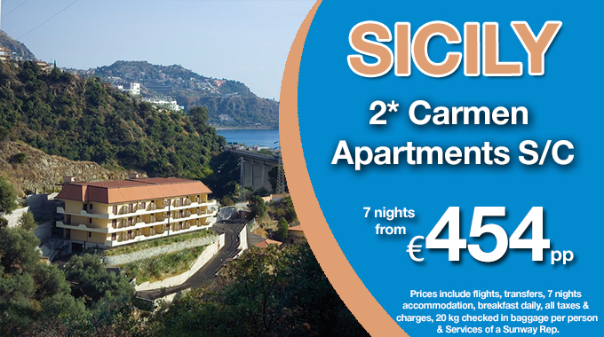 Sicily 2016 | 7 nights Self Catering from €454pp