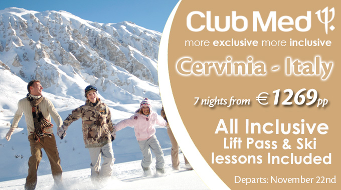Club Med Sunway | 7 nights All Inclusive Ski from €1269pp