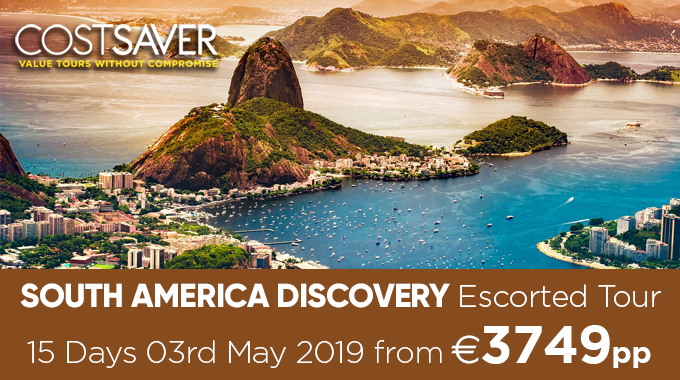 Costsaver South America Discovery Escorted Tour  | 15 days from €3749pp