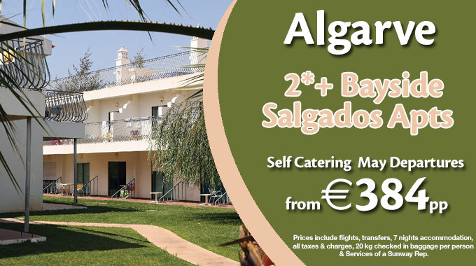 Algarve | 7 nights Self Catering from €384pp