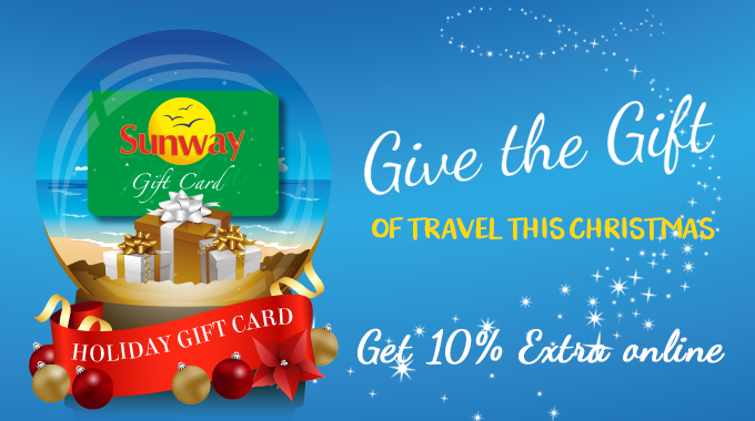 Sunway Gift Card | Get 10% extra when you book online!