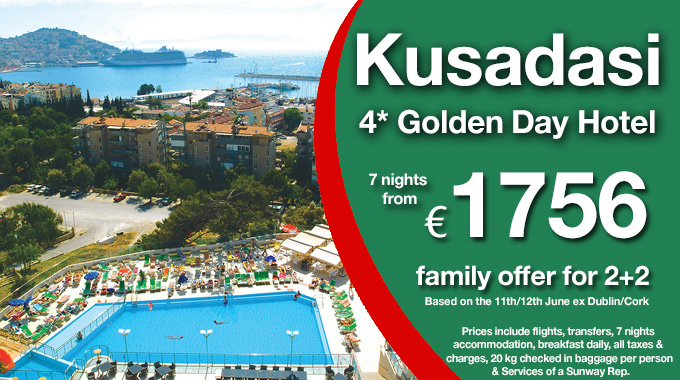 Turkey Family Offer | 7 nights (2 Adults + 2 Children) from €1856pp