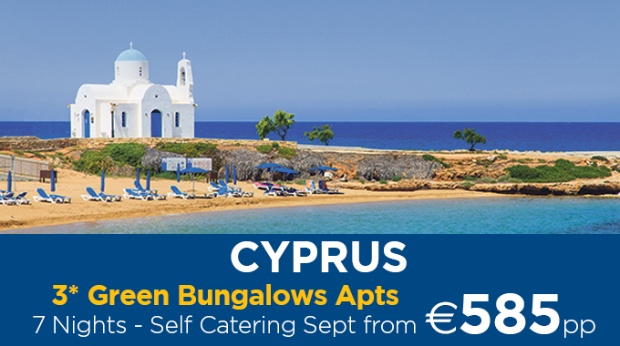 Cyprus | 7 Nights from €585pp