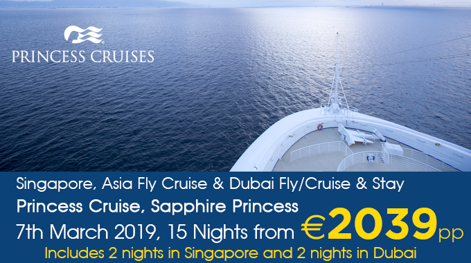 Princess Cruises | Fly/Cruise from €2039pp