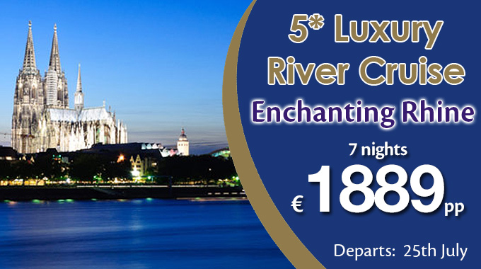 Rivercruise | 5* Enchanting Rhine, 7 nights from €1889pp