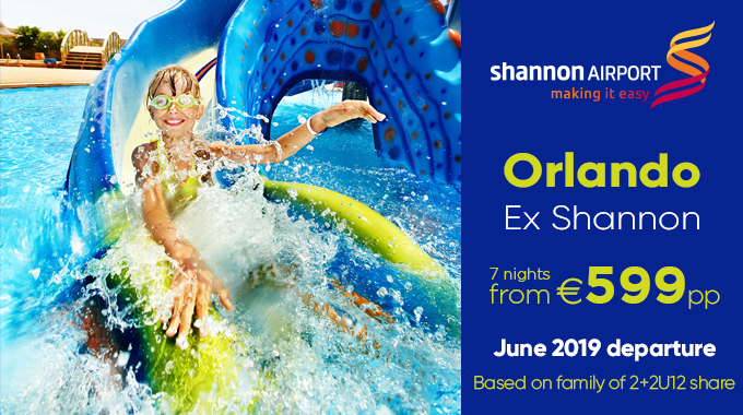 Orlando from Shannon | 7 nights from €599pp