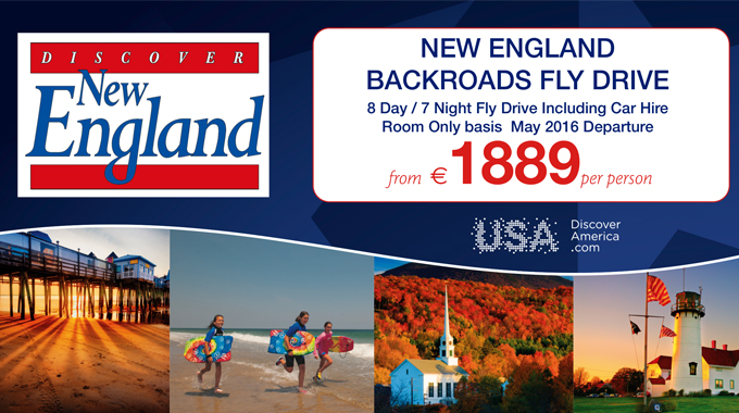 Discover New England | 7 night Fly Drive from €1889pp