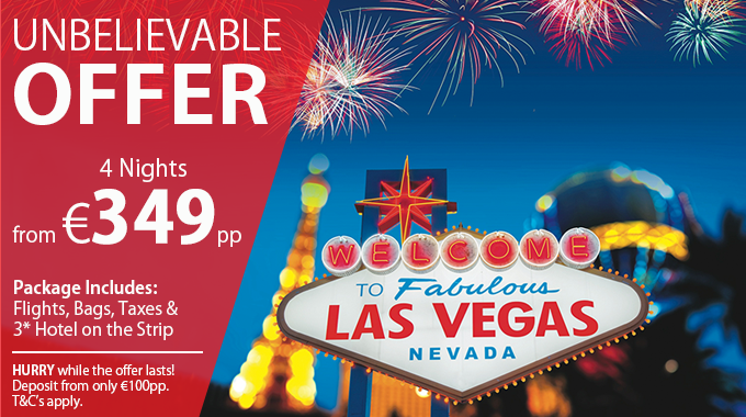 Las Vegas | 4 Nights from €349pp