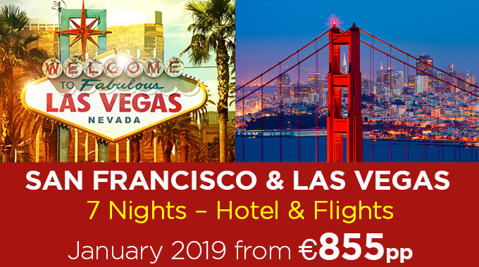 Las Vegas & Safrancisco Offer | 7 Nights from €855pp