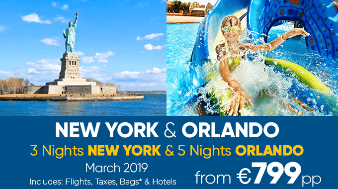 New York & Orlando | 8 nights from €799pp