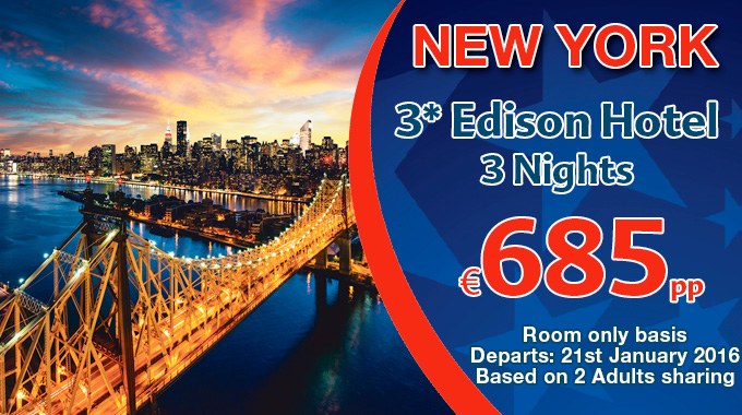 New York | 3 nights from €685pp