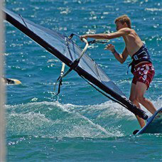 instructor windsurfing in levante